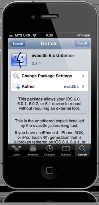 Джейлбрейк твик Evasi0n 6.x Untether поможет сделать привязный джейлбрейк iOS 6 отвязанным.