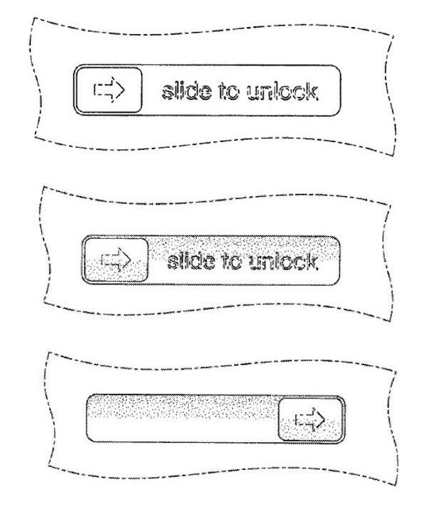 Slide to Unlock apple patent