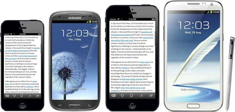 Сравнение iPhone Plus с Galaxy