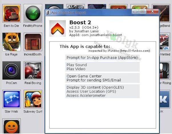 iFunBox проверит установленные iOS-приложения на предмет доступа к Вашим личным данным