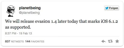 planetbeing evasion 1.4 iOS 6.1.2
