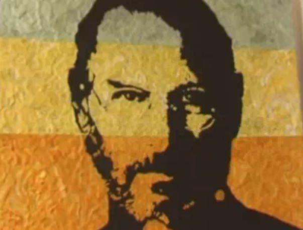Портрет Стива Джобса из жвачки