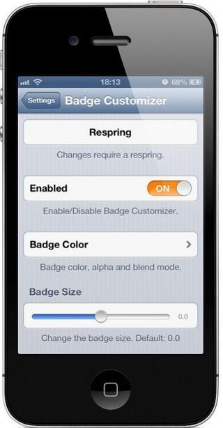 Badge Customizer твик Cydia