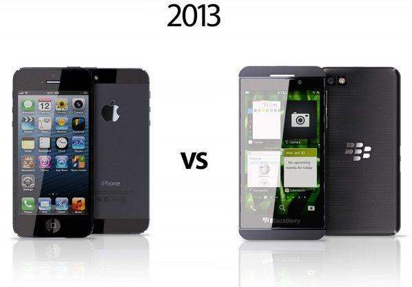 iPhone 5 и BlackBerry Z10