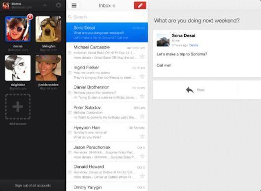 Gmail для ipad