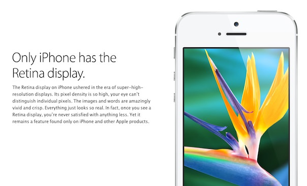 Реклама iPhone 5 на официальном сайте Apple