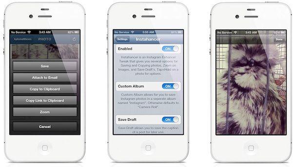 Instahancer джейлбрейк твик для iphone