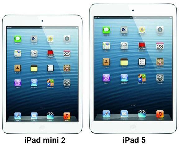 iPad-mini 2 и iPad-5