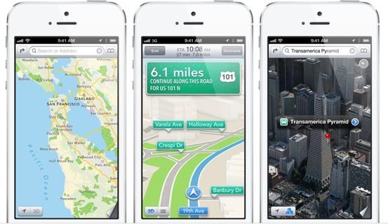 Apple Maps on iPhone 5