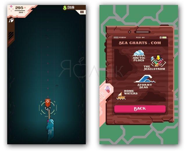 Игра Ridiculous Fishing для iPhone и iPad - садистский симулятор рыбалки