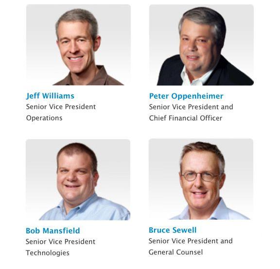 Топ-менеджеры Apple