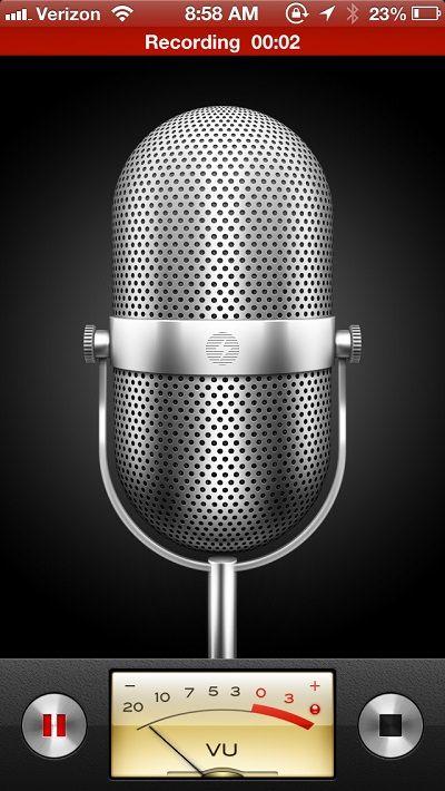 Приложение Voice Memos
