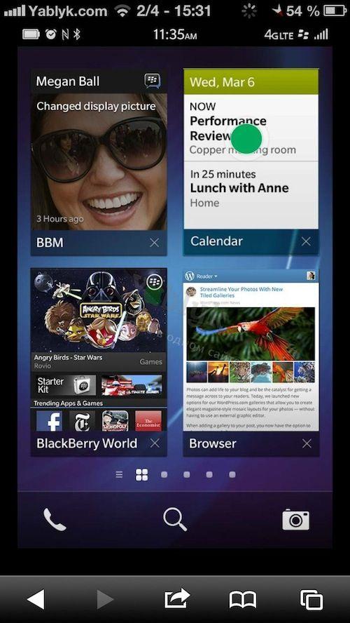 blackberry 10 на iPhone