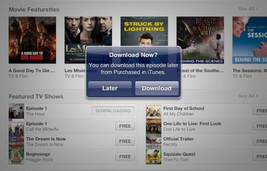 Отложенная загрузка в iTunes