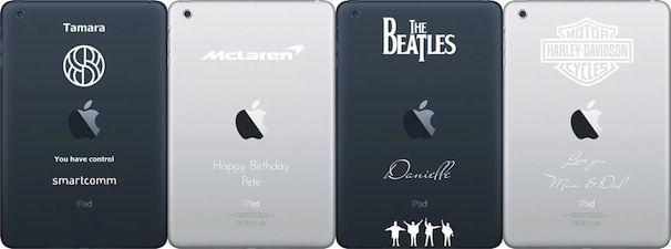 Лазерная гравировка на iPad