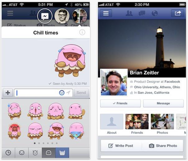 facebook 6 для iphone и ipad