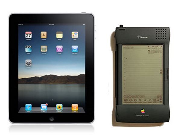 iPad и Newton MessagePad в сравнении