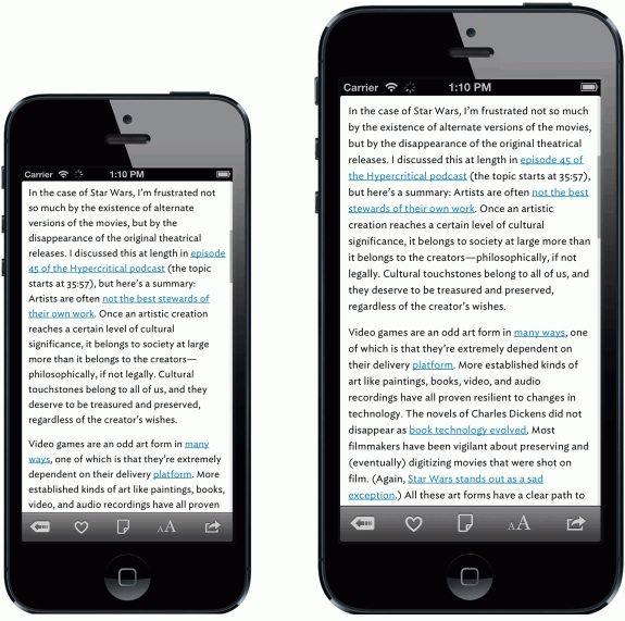 Retina plus в iPhone 5