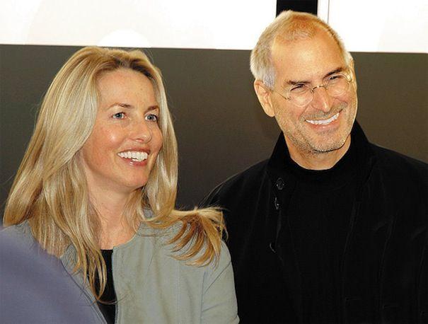 Лорен и Стив Джобс