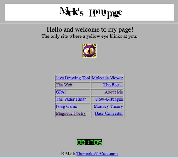 mark zuckerberg first site