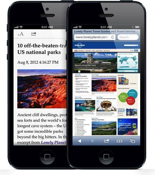 safari on iphone 5