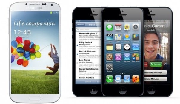 Galaxy S4 против iPhone 5