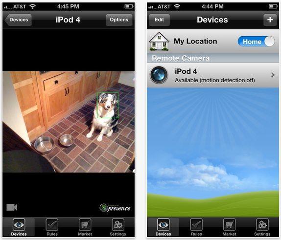 видеонаблюдение iPhone, iPad