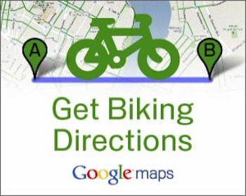 Карта Google Maps для велосипедистов