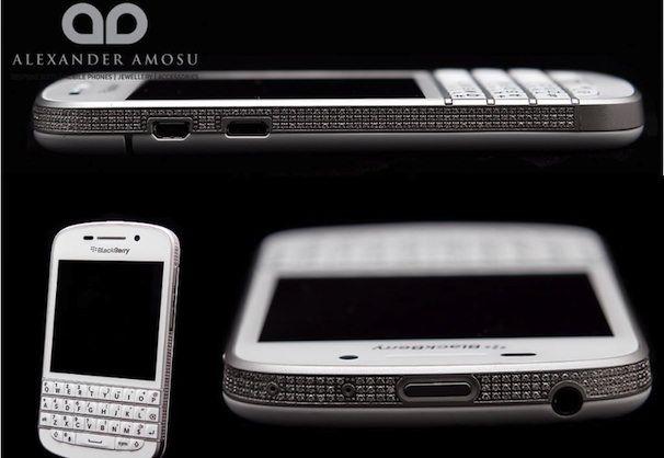 blackberry q10 с алмазами