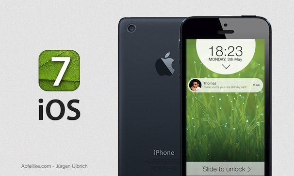 iPhone 6 концепт iOS 7
