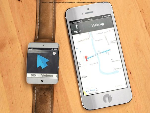 iWatch и карты Apple концепт