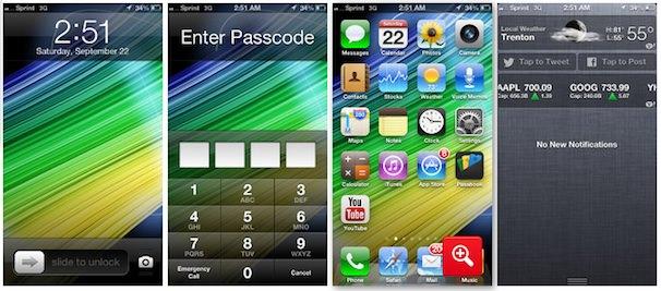 iPhone 5, ios 6 интерфейс