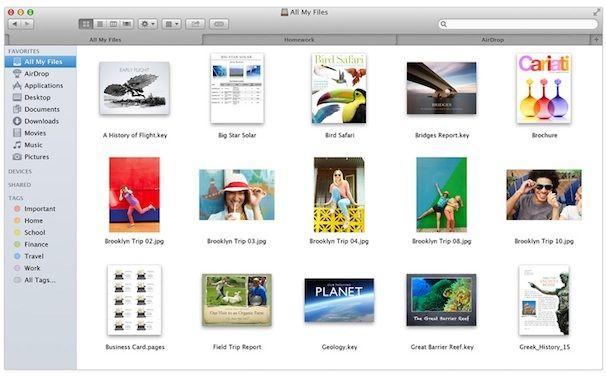 OS X Mavericks finder