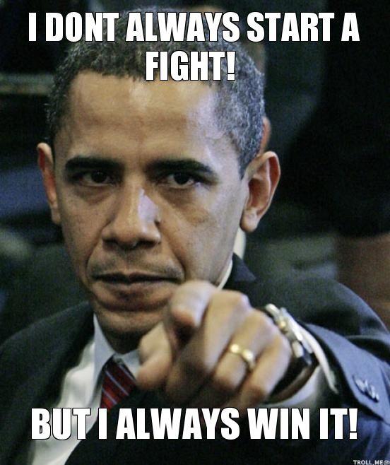 Obama fights