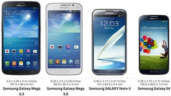 Сравнение габаритов Galaxy S4 mini
