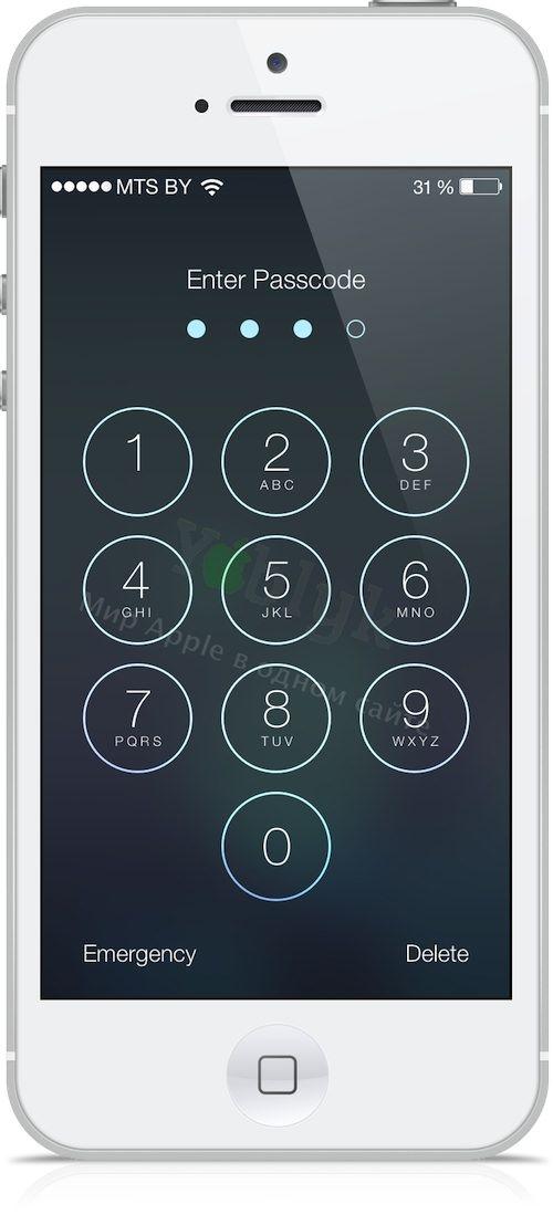уязвимость в iOS 7