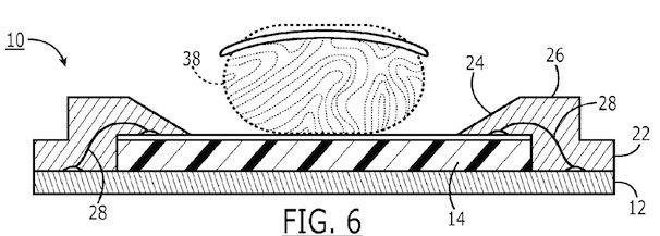 патент на сенсор отпечатков пальцев в iPhone 5