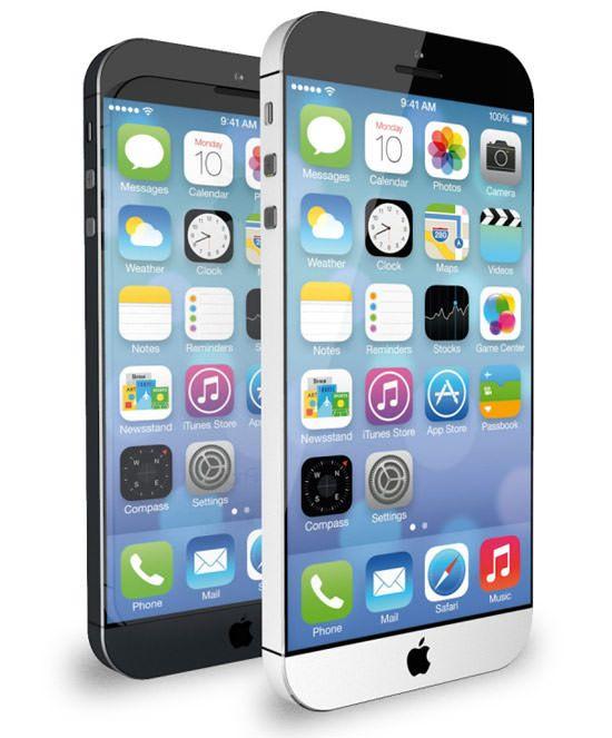 iPhone 6 концепт с iOS 7