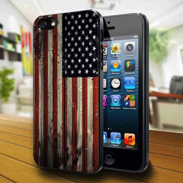 iPhone 5 с американским флагом