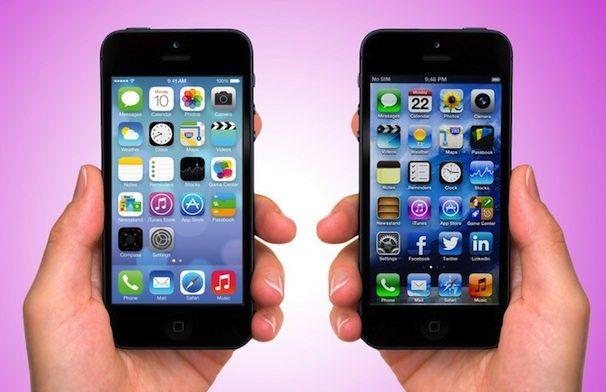 Сравнение iOS 6 и iOS 7