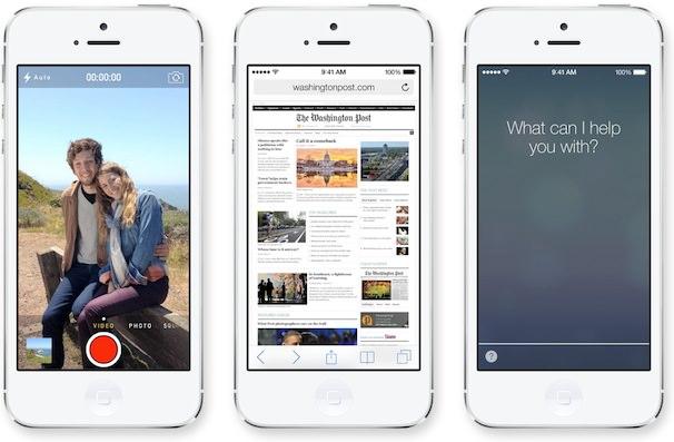 ios 7 iphone 5 домашний экран
