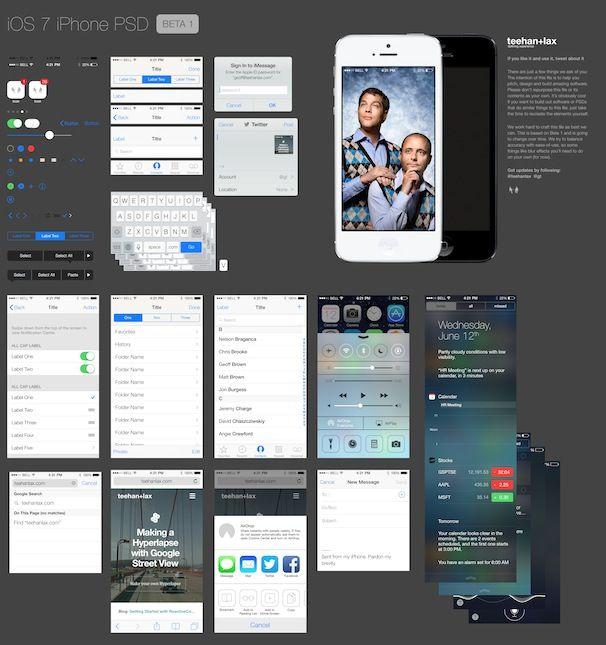GUI iOS 7 beta