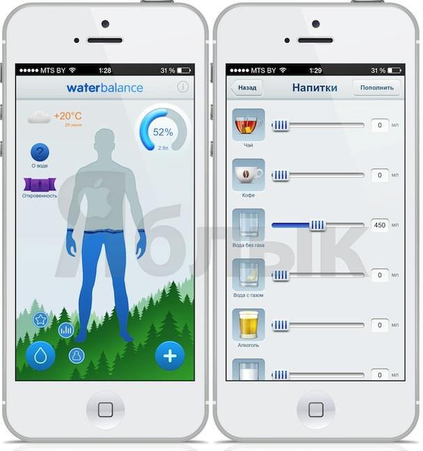 Пользя воды для iOS