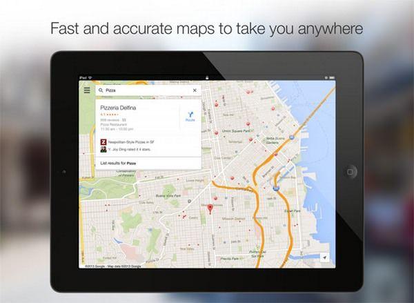 Обновленные карты Google