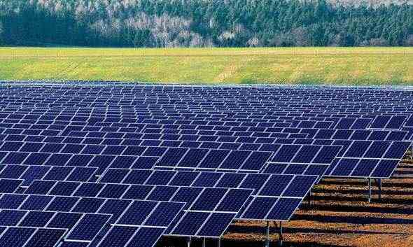Solar power plant under construction in Germany