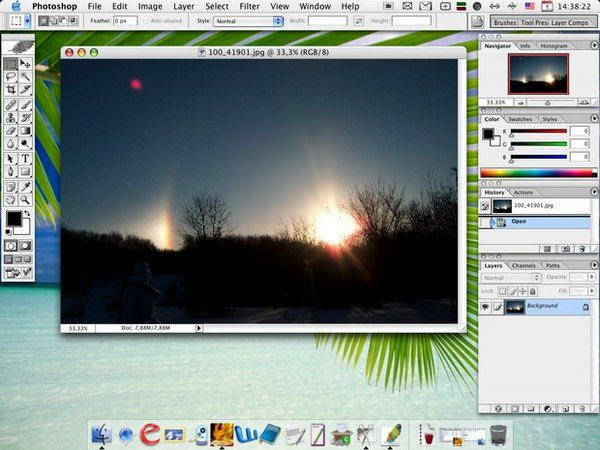 Photoshop на MacBook Air 2013