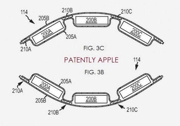 Apple патентуют гибкий аккумулятор для iWatch