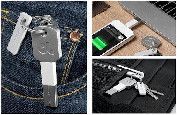миниатюрное зарядное для iPhone bluelounge kii