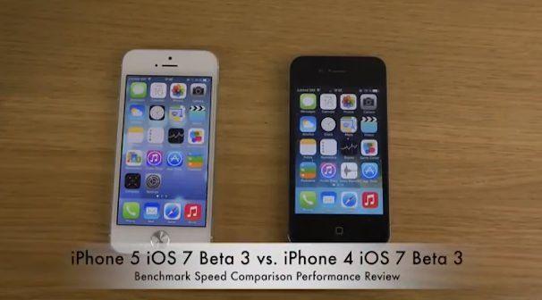 Сравнение производительности iPhone 5 iOS 7 beta 7
