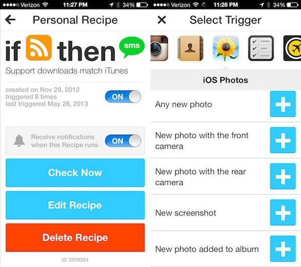 IFTTT  – автоматизация многих действий на iPhone